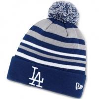 Los Angeles Dodgers mlb new era LA шапка с помпоном полосатая