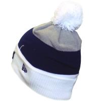 Los Angeles Dodgers mlb new era LA шапка с помпоном бело-сине-серая