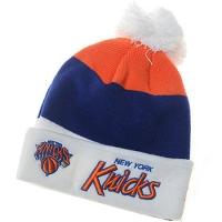 New York Knicks nba new era шапка с помпоном цветная