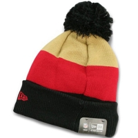 San Francisco 49ers nfl new era шапка с помпоном цветная