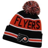 Philadelphia Flyers nhl new era шапка с помпоном черно-оранжевая