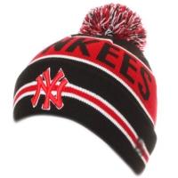 New York Yankees mlb new era NY шапка с помпоном черно-красная