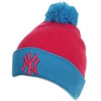 New York Yankees mlb new era NY шапка с помпоном розовая