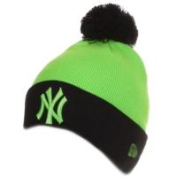 New York Yankees mlb new era NY шапка с помпоном салатовая