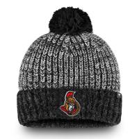 Ottawa Senators nhl fanatics хоккейная шапка с помпоном серая