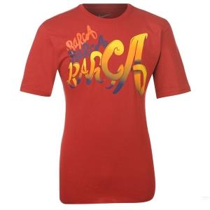 Barcelona FC nike спортивная футболка красная